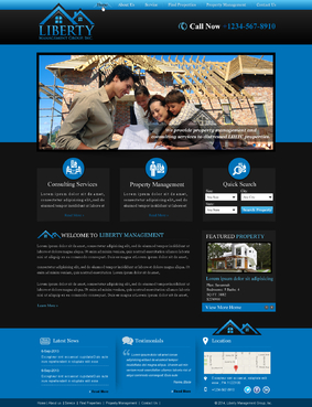 Liberty Management Group, Inc. Complete Web Design Solution  Draft # 29 by makeglow