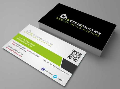 Dm construction Business Cards and Stationery  Draft # 119 by DesignBlast