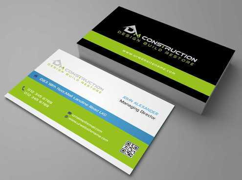 Dm construction Business Cards and Stationery  Draft # 125 by DesignBlast