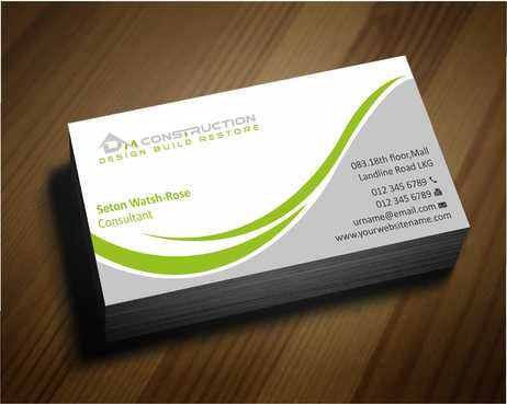 Dm construction Business Cards and Stationery  Draft # 161 by Dawson