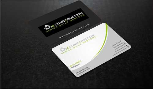 Dm construction Business Cards and Stationery  Draft # 179 by Dawson