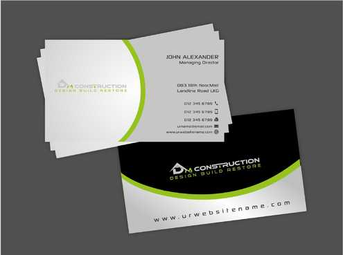 Dm construction Business Cards and Stationery  Draft # 180 by Dawson