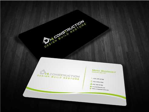 Dm construction Business Cards and Stationery  Draft # 185 by Dawson