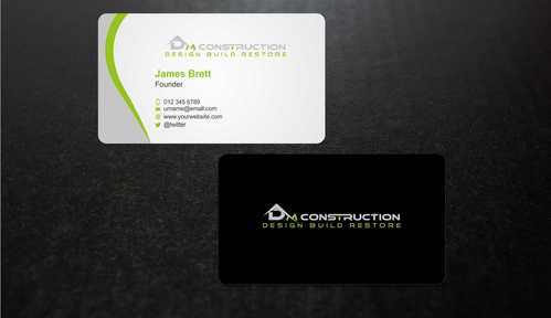 Dm construction Business Cards and Stationery  Draft # 184 by Dawson