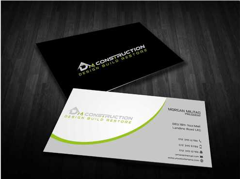 Dm construction Business Cards and Stationery  Draft # 187 by Dawson