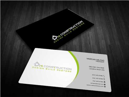 Dm construction Business Cards and Stationery  Draft # 188 by Dawson