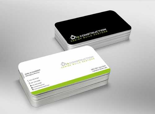 Dm construction Business Cards and Stationery  Draft # 190 by Dawson