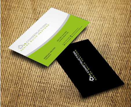 Dm construction Business Cards and Stationery  Draft # 192 by Dawson