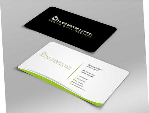 Dm construction Business Cards and Stationery  Draft # 195 by Dawson