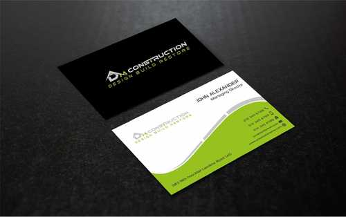 Dm construction Business Cards and Stationery  Draft # 197 by Dawson