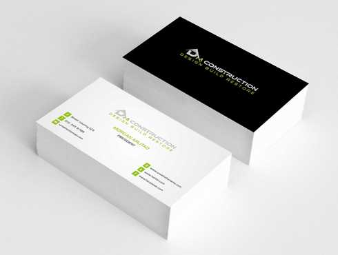 Dm construction Business Cards and Stationery  Draft # 196 by Dawson