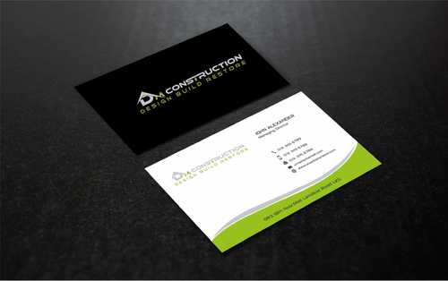 Dm construction Business Cards and Stationery  Draft # 199 by Dawson