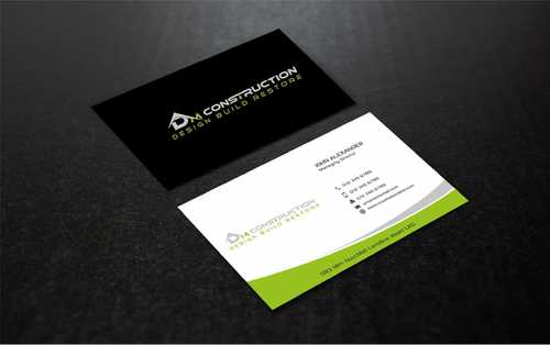 Dm construction Business Cards and Stationery  Draft # 200 by Dawson