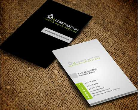 Dm construction Business Cards and Stationery  Draft # 202 by Dawson