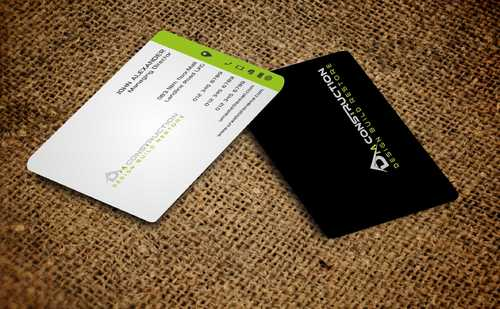 Dm construction Business Cards and Stationery  Draft # 203 by Dawson