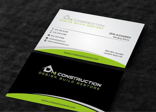 Dm construction Business Cards and Stationery  Draft # 204 by Dawson