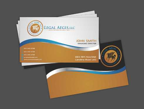 Business Card for Legal Aegis Business Cards and Stationery  Draft # 198 by Dawson