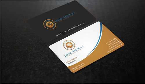Business Card for Legal Aegis Business Cards and Stationery  Draft # 203 by Dawson
