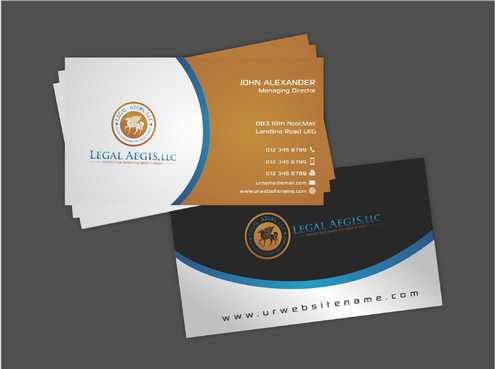 Business Card for Legal Aegis Business Cards and Stationery  Draft # 206 by Dawson