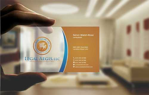 Business Card for Legal Aegis Business Cards and Stationery  Draft # 205 by Dawson