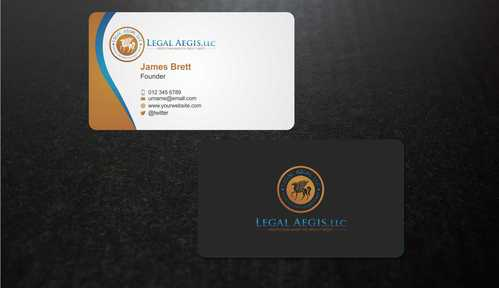 Business Card for Legal Aegis Business Cards and Stationery  Draft # 207 by Dawson