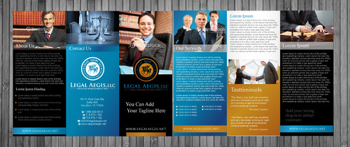 Legal Aegis Marketing Material Marketing collateral Winning Design by sevensky