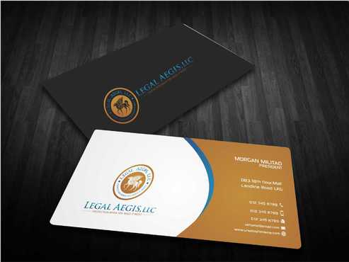 Business Card for Legal Aegis Business Cards and Stationery  Draft # 211 by Dawson