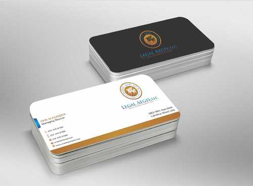 Business Card for Legal Aegis Business Cards and Stationery  Draft # 213 by Dawson