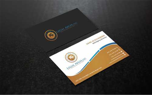 Business Card for Legal Aegis Business Cards and Stationery  Draft # 217 by Dawson