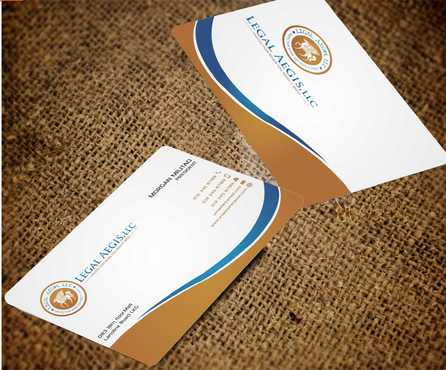 Business Card for Legal Aegis Business Cards and Stationery  Draft # 216 by Dawson