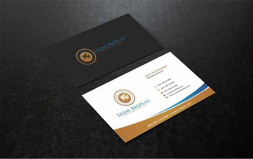 Business Card for Legal Aegis Business Cards and Stationery  Draft # 219 by Dawson