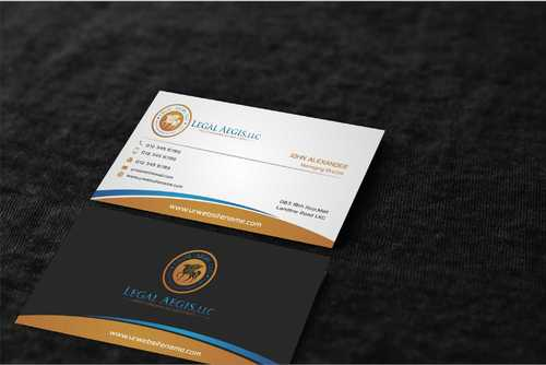 Business Card for Legal Aegis Business Cards and Stationery  Draft # 221 by Dawson