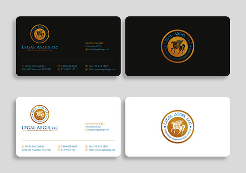 Business Card for Legal Aegis Business Cards and Stationery  Draft # 223 by vietcreative