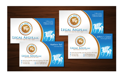 Business Card for Legal Aegis Business Cards and Stationery  Draft # 224 by maztabotin