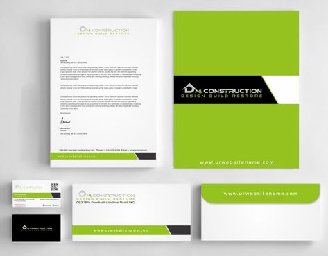 Dm construction Business Cards and Stationery  Draft # 267 by DesignBlast