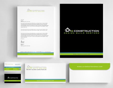 Dm construction Business Cards and Stationery  Draft # 268 by DesignBlast