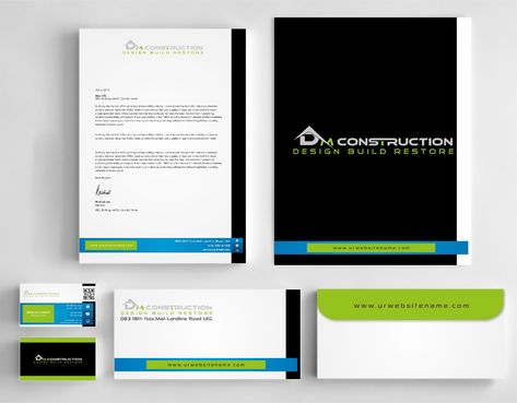 Dm construction Business Cards and Stationery  Draft # 269 by DesignBlast