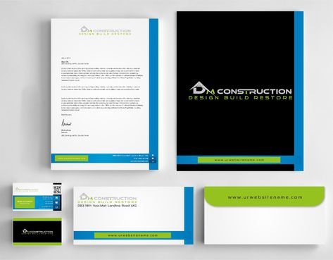 Dm construction Business Cards and Stationery  Draft # 270 by DesignBlast