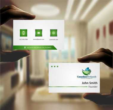 Canadian Wetlands Inc  eco system management Business Cards and Stationery  Draft # 98 by DesignBlast