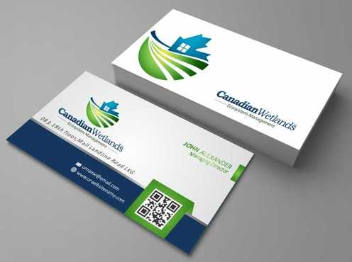 Canadian Wetlands Inc  eco system management Business Cards and Stationery  Draft # 100 by DesignBlast