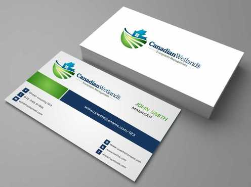 Canadian Wetlands Inc  eco system management Business Cards and Stationery  Draft # 104 by DesignBlast