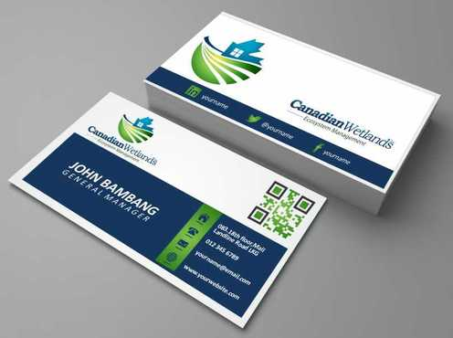 Canadian Wetlands Inc  eco system management Business Cards and Stationery  Draft # 105 by DesignBlast