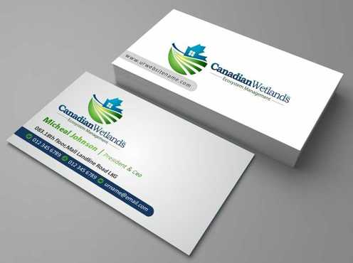 Canadian Wetlands Inc  eco system management Business Cards and Stationery  Draft # 107 by DesignBlast