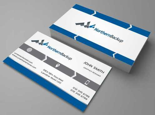 Northern Backup Inc. Business Cards and Stationery  Draft # 64 by DesignBlast