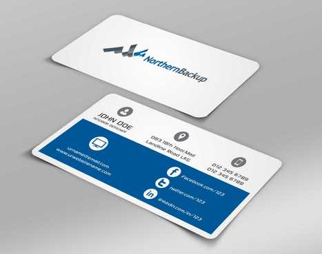 Northern Backup Inc. Business Cards and Stationery  Draft # 65 by DesignBlast