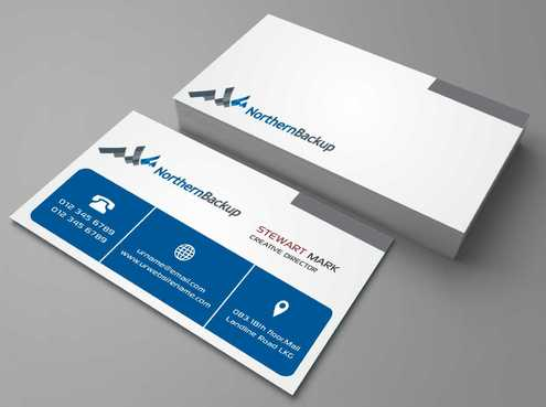 Northern Backup Inc. Business Cards and Stationery  Draft # 66 by DesignBlast