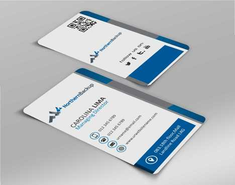 Northern Backup Inc. Business Cards and Stationery  Draft # 67 by DesignBlast