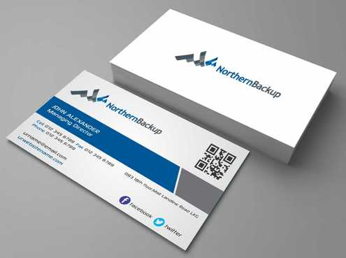 Northern Backup Inc. Business Cards and Stationery  Draft # 73 by DesignBlast