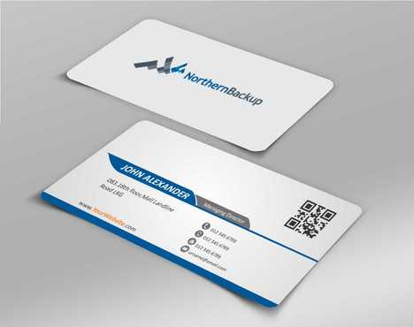 Northern Backup Inc. Business Cards and Stationery  Draft # 75 by DesignBlast