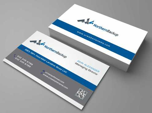Northern Backup Inc. Business Cards and Stationery  Draft # 82 by DesignBlast